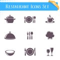 Restaurant Icons Collection Royalty Free Stock Photography - 50264647