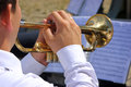 Musician Playing On Trumpet Royalty Free Stock Photo - 50268535