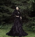 Dark Queen In Park Royalty Free Stock Photography - 50276197