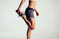 Fitness Woman Stretching Her Legs Royalty Free Stock Images - 50277539