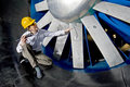 Inspecting A Windtunnel Royalty Free Stock Images - 5030569