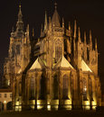 St. Vitus Cathedral At Night Stock Image - 5033481