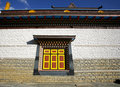 Monastery Wall And Window, Upper Pisang Stock Photography - 5039542
