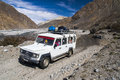 Jeep Is The Primary Means Of Transport In The Village Of Jomsom Royalty Free Stock Photos - 50301258