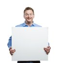 Man With Blank Sign Board Stock Images - 50303564
