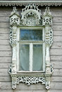 Beautiful Window In Wooden Russian House Stock Images - 50315144