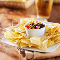 Fire Roasted Black Bean And Corn Salsa Stock Image - 50316291