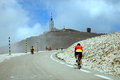 Cyclists On Road On The Way To The Top Of Ventoux Mount Stock Image - 50317481