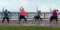 Zumba On The Boardwalk Stock Images - 50318014
