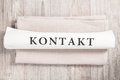 Kontakt (in German) Stock Images - 50323904