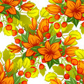 Abstract Elegance Seamless Pattern With Floral Elements Stock Photo - 50329810