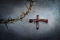 Crown Of Thorns And Cross Of Nails Royalty Free Stock Photo - 50335015