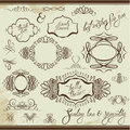 Vintage Ornaments And Frames, Vignettes, Calligraphic Stock Photography - 50335772