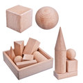 Wooden Geometric Figures Kit Royalty Free Stock Image - 50343016