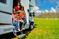 Family Vacation, RV (camper) Travel In Motorhome With Kids Stock Image - 50346381