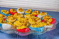 Deviled Eggs,Easter Colored Royalty Free Stock Images - 50346469