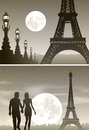 Night Paris And Couple In Love Stock Photo - 50348460