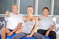 Senior People Exercising With Dumbbells In Gym Stock Image - 50348961