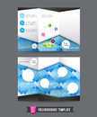 Fold Brochure Background Template 0001 Stock Photography - 50350932