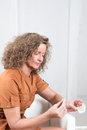 Woman With  Pharmaceuticals Stock Image - 50353851