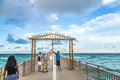 People Enjoy The Fishing Pier In Sunny Isles Beach Stock Photography - 50357072