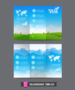 Fold Brochure Background Template 0002 Royalty Free Stock Photography - 50361707