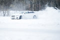 Car Drift Spray Snow Royalty Free Stock Photography - 50379617