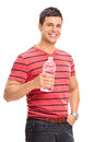 Young Man Drinking Water From A Bottle Stock Image - 50388481