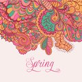 Decorative Element, Lace Border. Spring Lettering. Template Wa Royalty Free Stock Photos - 50389128