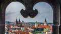 View From Tower Window  In Downtown Prague Stock Image - 50390881