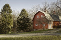 Old Red Barn In Field With Trees Stock Photography - 50393072