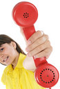 Girl With Telephone Royalty Free Stock Images - 5040769