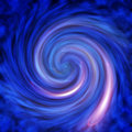 Blue Vortex Abstract Background Pattern Stock Image - 5044271
