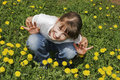 Girl On The Meadow Stock Images - 5048764