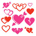 Set Of Hearts Web And Mobile Logo Icons Royalty Free Stock Photography - 50402627