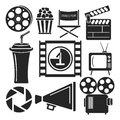 Set Of 9 Cinema Web And Mobile Icons. Vector. Royalty Free Stock Photo - 50402675