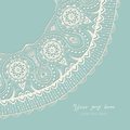 Decorative Vintage Design Element, Illustration With Lacy Frame Royalty Free Stock Images - 50424179