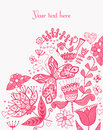 Floral Background, Summer Theme, Greeting Card. Template Design Royalty Free Stock Photography - 50430097