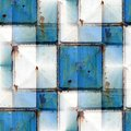 Seamless Background With Blue Iron Rust Square Royalty Free Stock Photo - 50431935