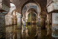 Interior View Of The Arab Cistern Caceres Spain, Reflections Of The Arches In The Water Royalty Free Stock Photography - 50435977