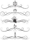 Sketchy Wine Scrollwork Royalty Free Stock Images - 50446849