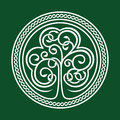 St. Patrick S Day. Shamrock On A Green Background Royalty Free Stock Images - 50450069