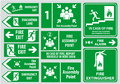 Set Of Emergency Exit Sign (fire Exit, Emergency Exit, Fire Assembly Point) Stock Images - 50456104
