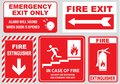 Set Of Emergency Exit Sign (fire Exit, Emergency Exit, Fire Assembly Point) Royalty Free Stock Images - 50456109