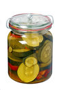 Glass Jar With Pickled Zucchini Stock Photography - 50457972
