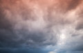 Colorful Dark Stormy Cloudy Sky. Natural Background Royalty Free Stock Photo - 50458975