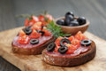 Open Rye Sandwich With Salami And Vegetables Royalty Free Stock Images - 50459689