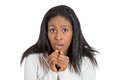 Stressed Anxious Funny Looking Business Woman Stock Images - 50463294