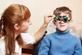 Eye Examinations At Ophthalmology Clinic Royalty Free Stock Images - 50482399