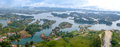 Aerial View Of Guatape In Antioquia, Colombia Royalty Free Stock Images - 50497979